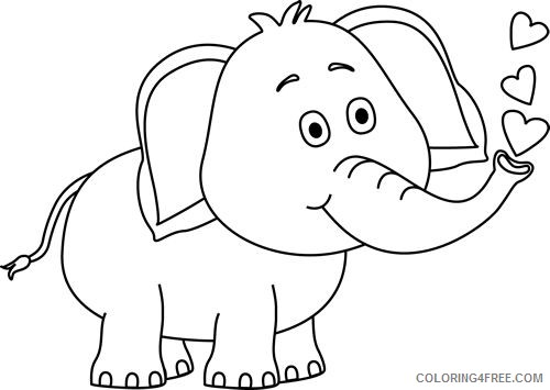 Elephant Outline Coloring Pages elephant 25 jpg Printable Coloring4free