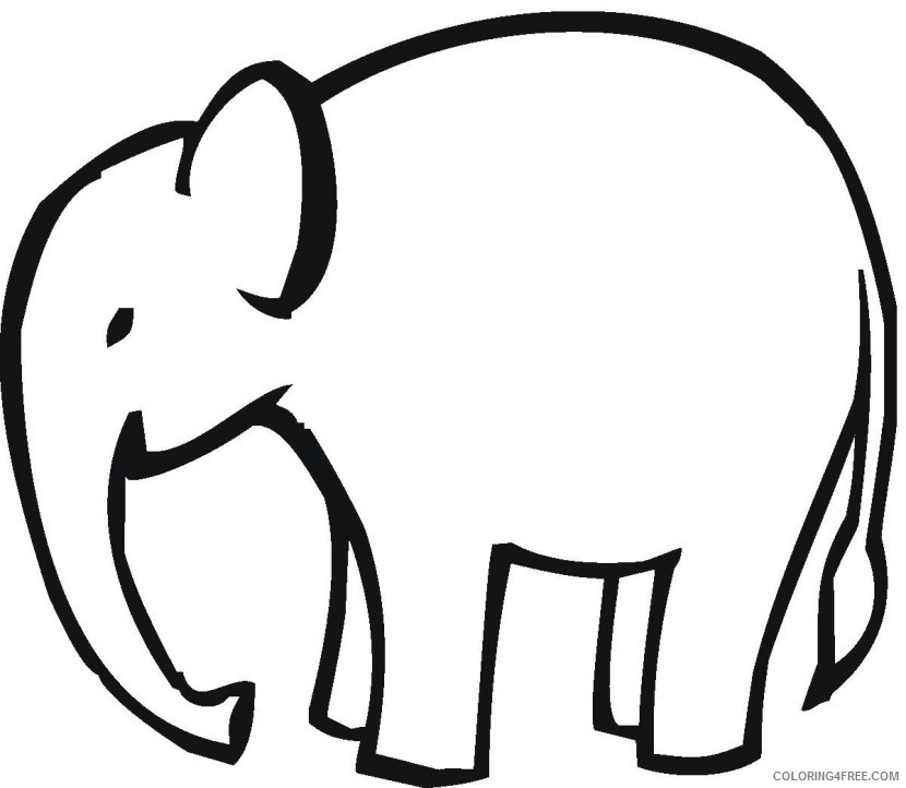 Elephant Outline Coloring Pages elephant 75 jpg Printable Coloring4free