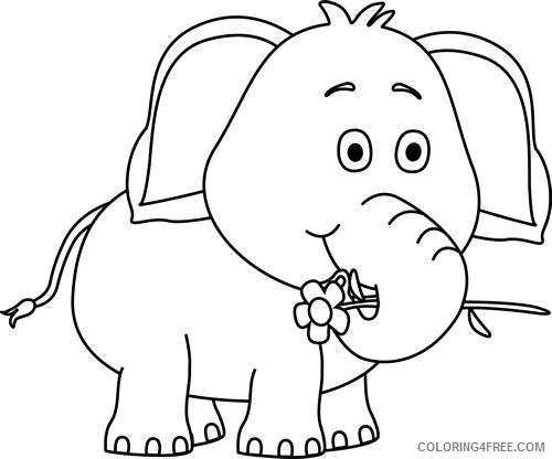 Elephant Outline Coloring Pages elephant 96 jpg Printable Coloring4free