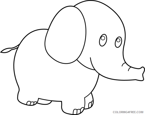 Elephant Outline Coloring Pages elephant elephant 3 Printable Coloring4free