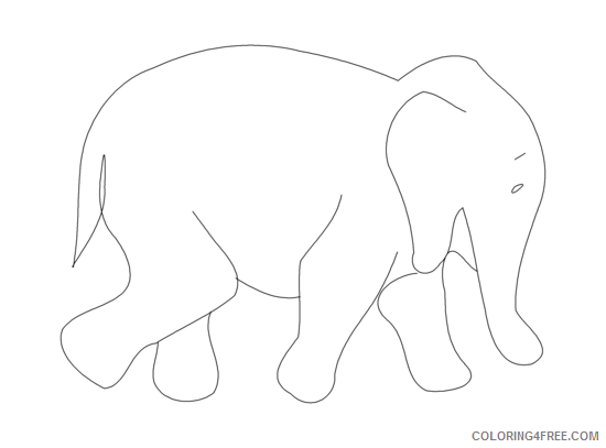 Elephant Outline Coloring Pages elephant outline png Printable Coloring4free