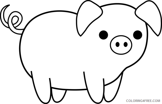 Farm Animals Coloring Pages and white pictures of farm Printable Coloring4free