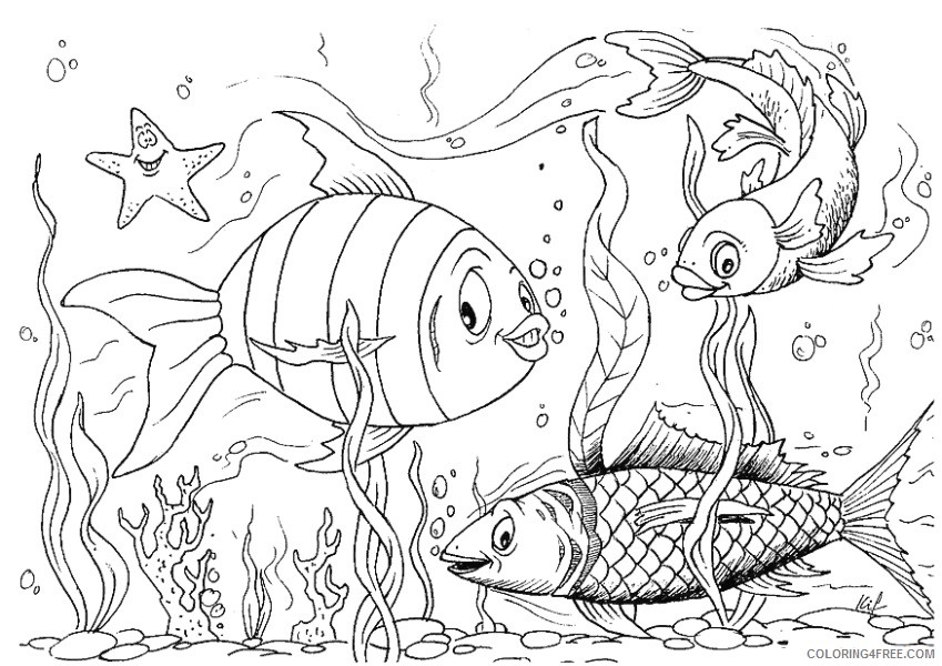 Fish Coloring Pages fish animals 12 Printable Coloring4free
