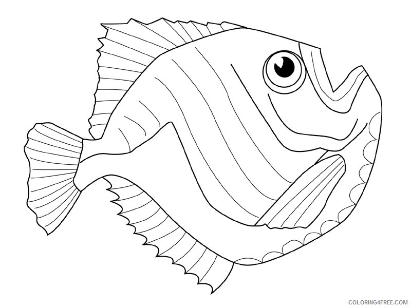 Fish Coloring Pages fish animals 38 Printable Coloring4free
