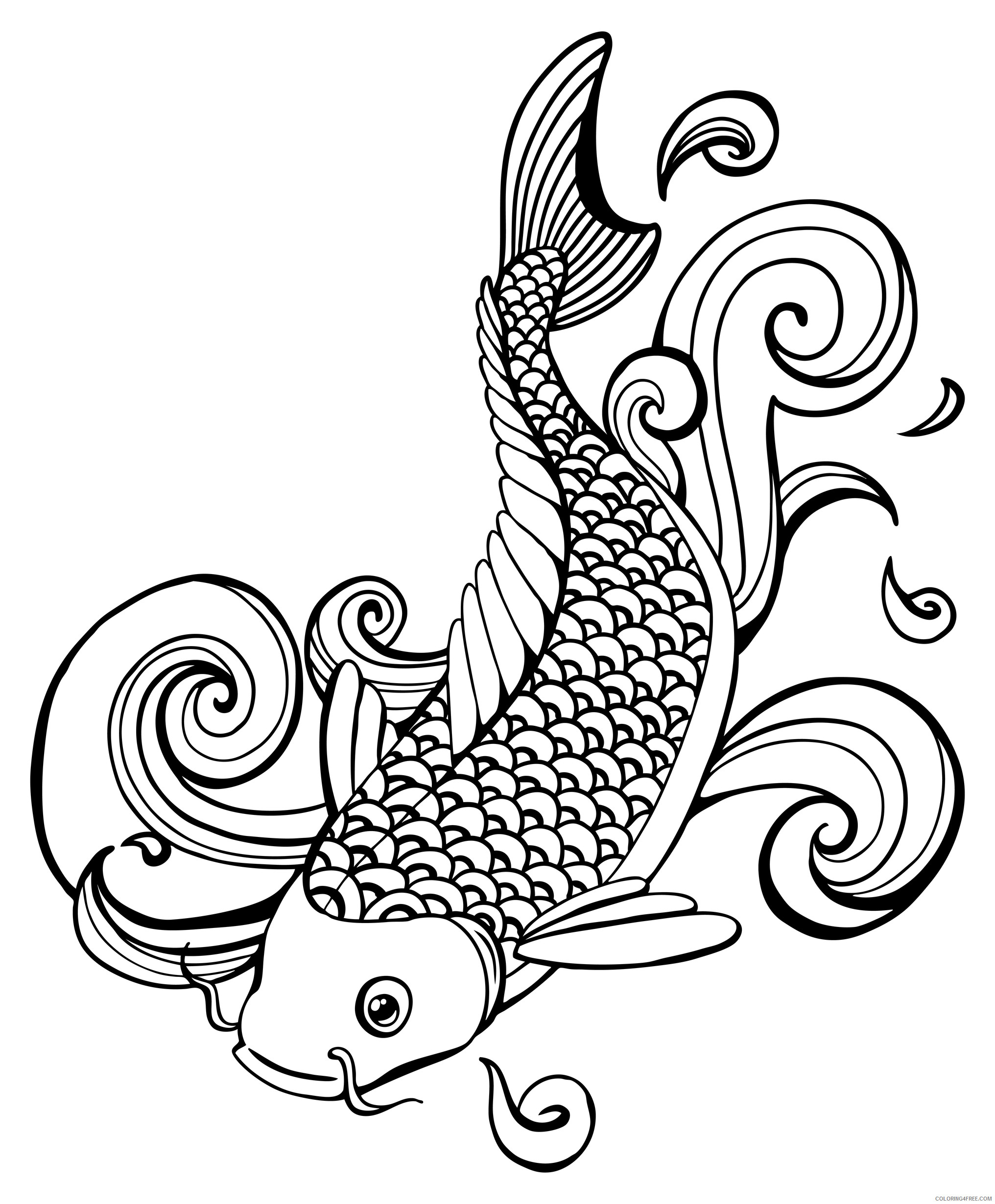Coloring Pages Fish Photo top 92 Fishing Coloring Pages Free ... | 2460x2032