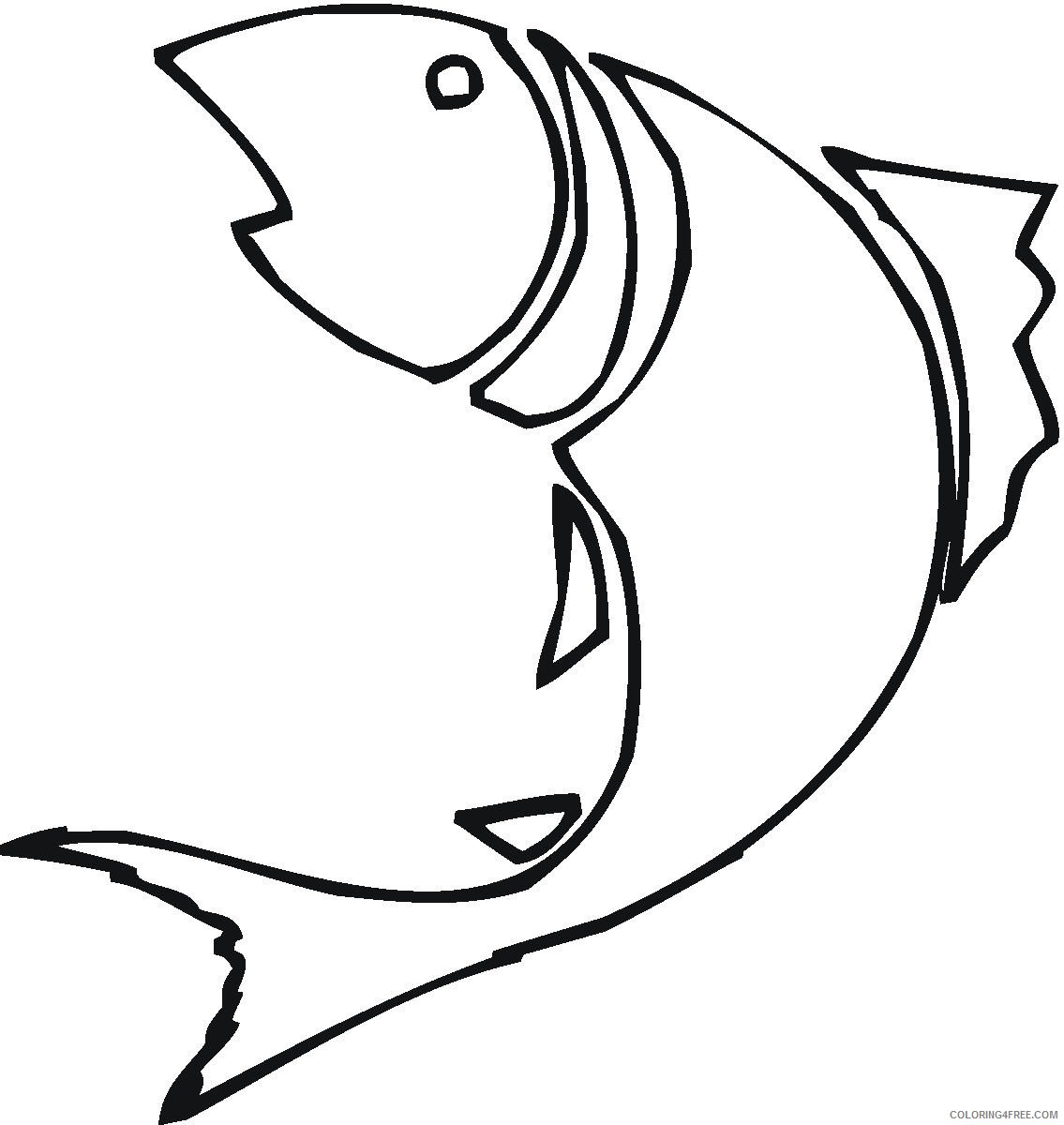 Fish Outline Coloring Pages fish outline bfree Printable Coloring4free