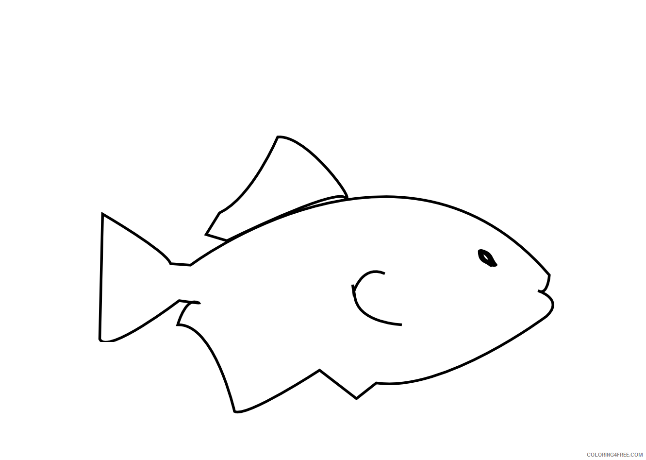 Fish Outline Coloring Pages fish printable free Printable Coloring4free