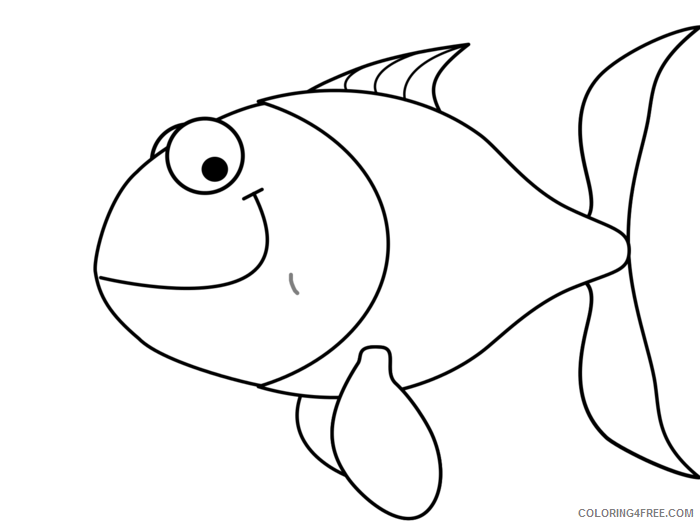 Fish Outline Coloring Pages fish vector Printable Coloring4free