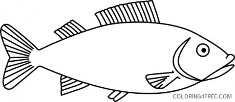 Fish Outline Coloring Pages fish vector free Printable Coloring4free