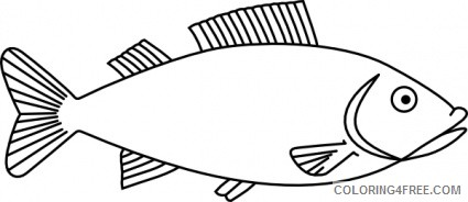 Fish Outline Coloring Pages report browse animals wildlife fish Printable Coloring4free