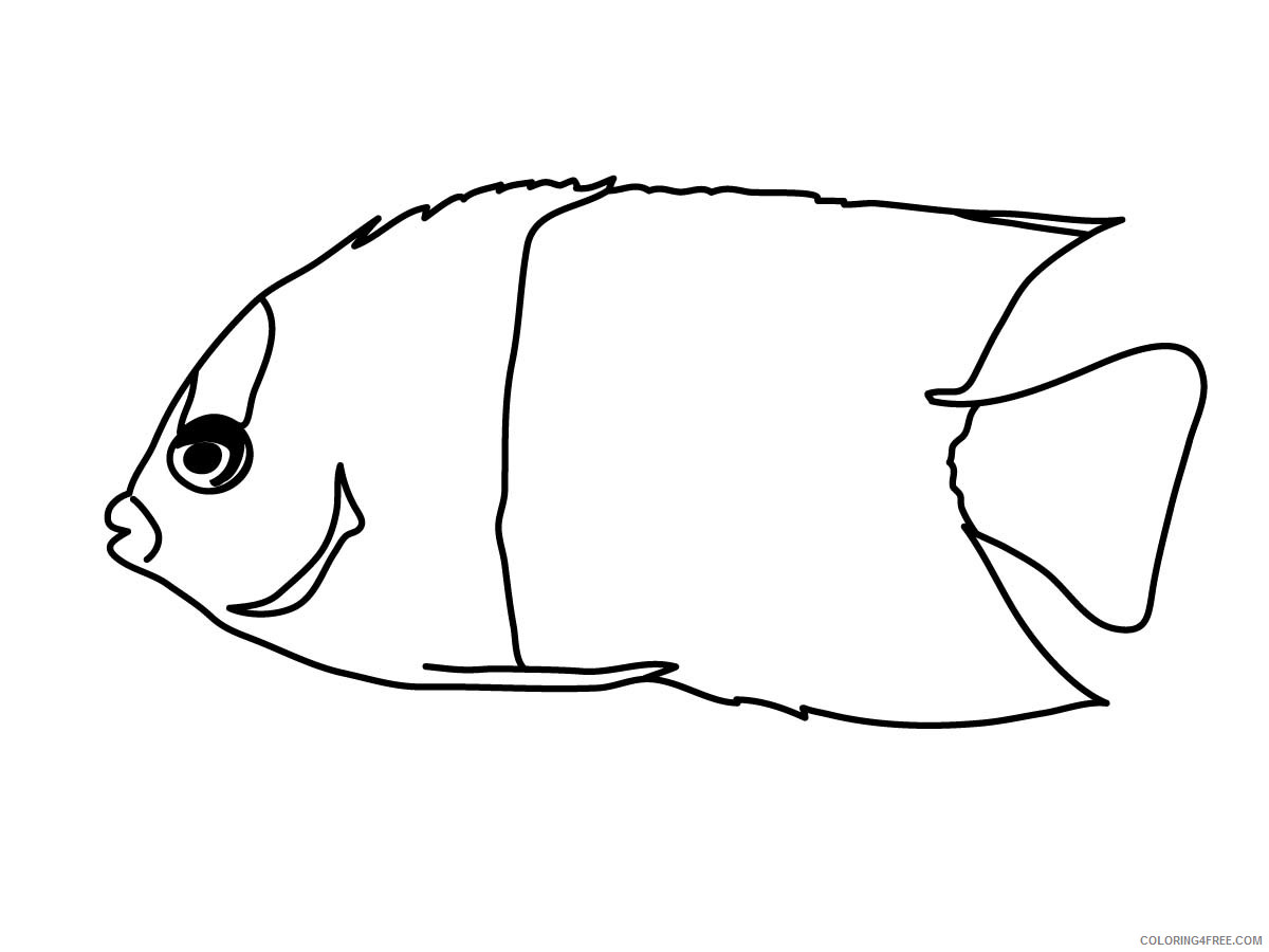 Fish Outline Coloring Pages tile pattern fish Printable Coloring4free