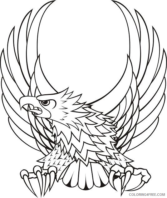Flaming Eagle Coloring Pages flaming eagle tattoo best Printable Coloring4free