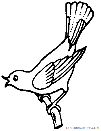 Flying Bird Coloring Pages bird bird flying away clip Printable Coloring4free
