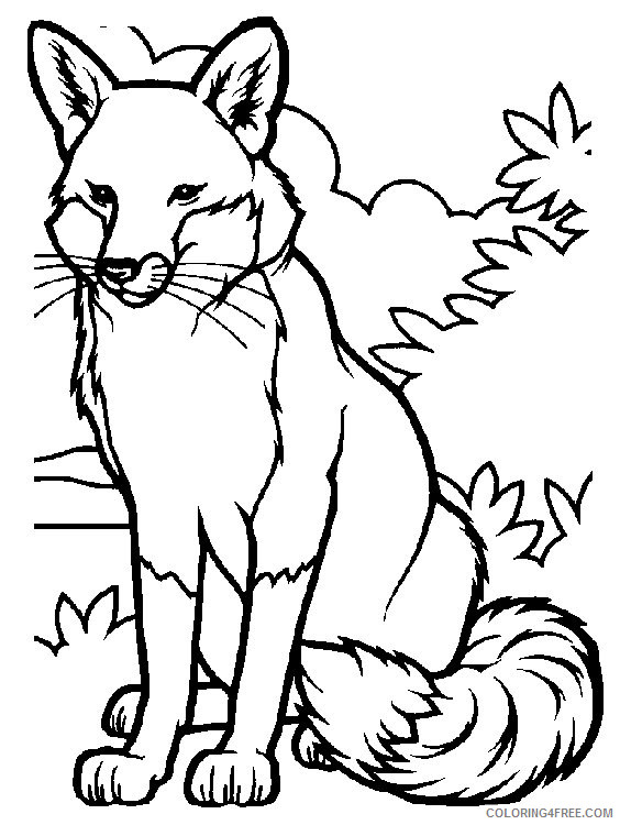 Fox Coloring Pages fox animals 1 Printable Coloring4free