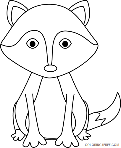 Fox Outline Coloring Pages fox Printable Coloring4free