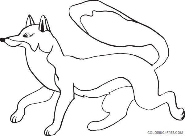 Fox Outline Coloring Pages fox at Printable Coloring4free