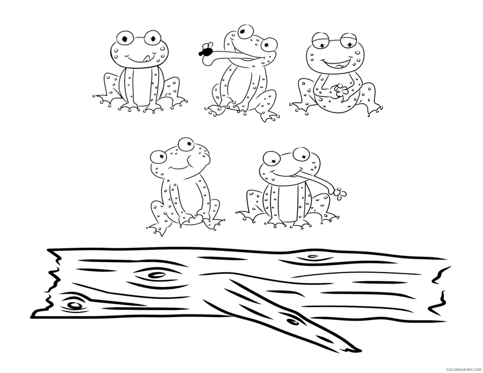 Frog Coloring Pages bust out your crayons five Printable Coloring4free
