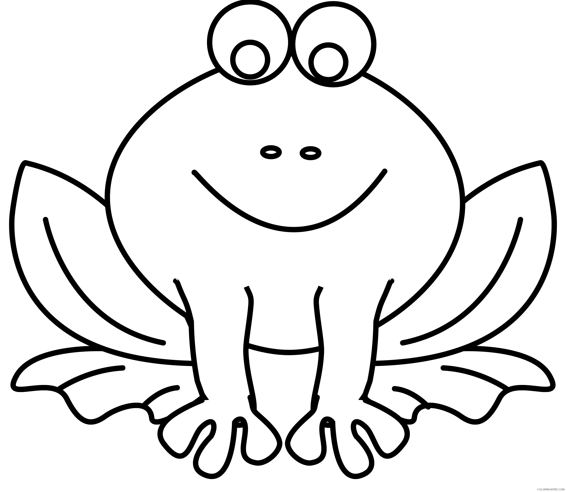 Frog Coloring Pages frog line art pixabella green Printable Coloring4free