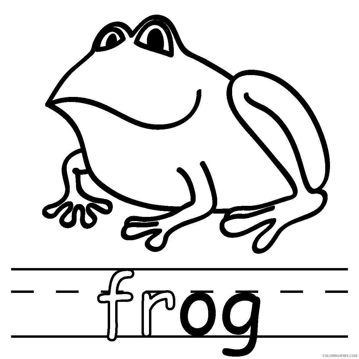 Frog Outline Coloring Pages Tree frog black Printable Coloring4free