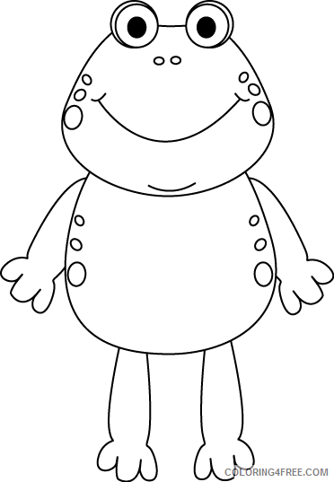 Frog Outline Coloring Pages frog Printable Coloring4free