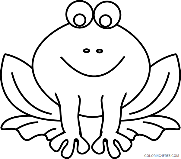 Frog Outline Coloring Pages frog outline at Printable Coloring4free
