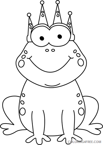 Frog Prince Coloring Pages frog prince Printable Coloring4free