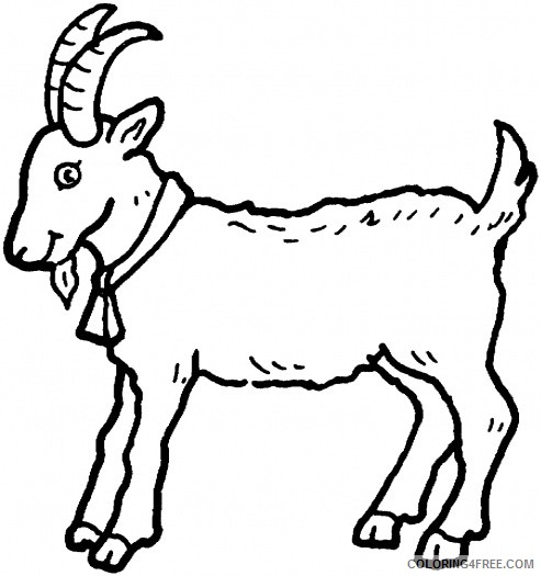 Goat Outline Coloring Pages 10 outline drawing of a Printable Coloring4free