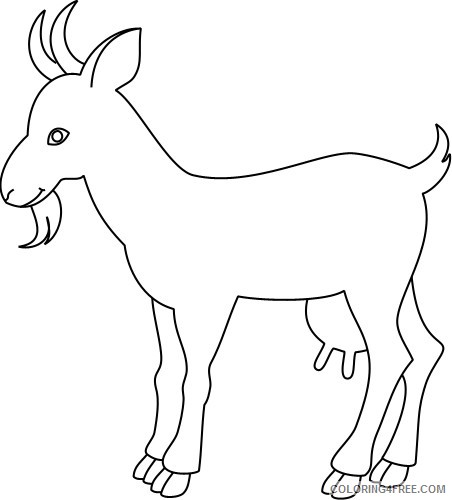 Goat Outline Coloring Pages outline drawing of a goat Printable Coloring4free