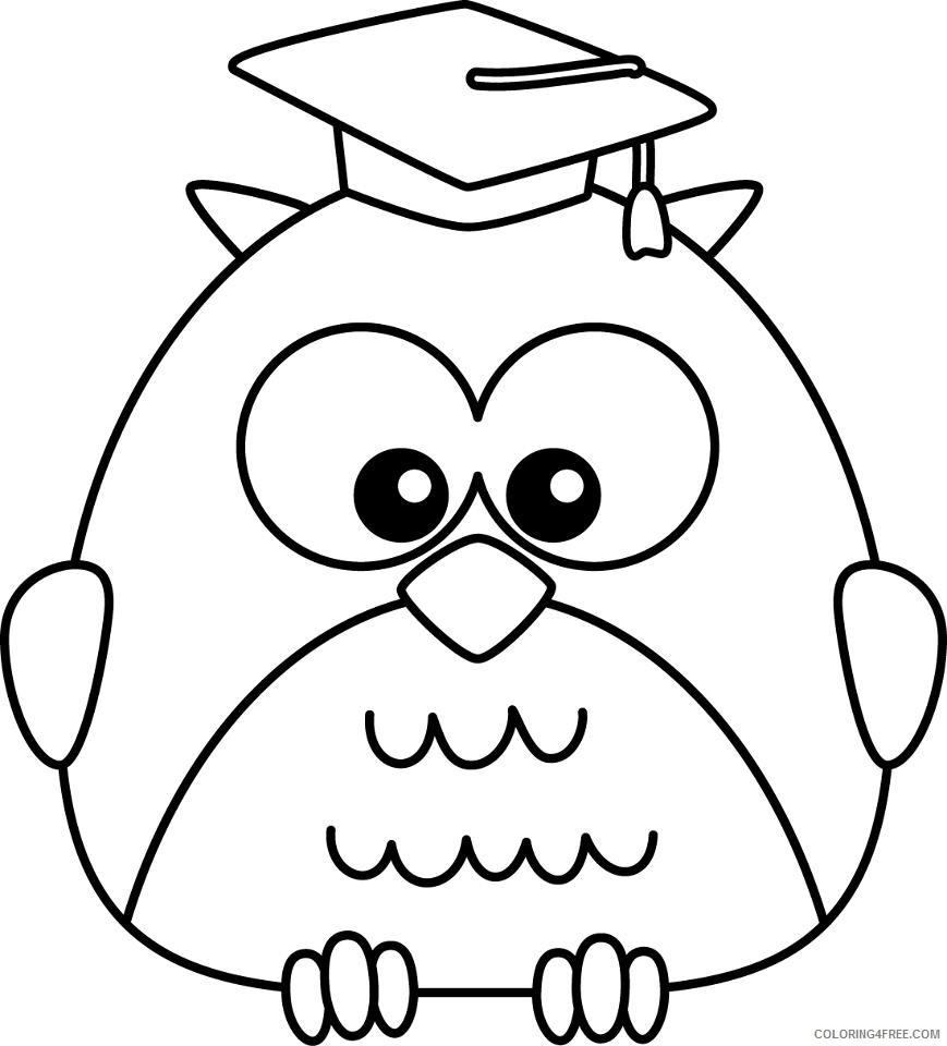 Graduation Owl Coloring Pages kindergarten graduation owl clip art Printable Coloring4free