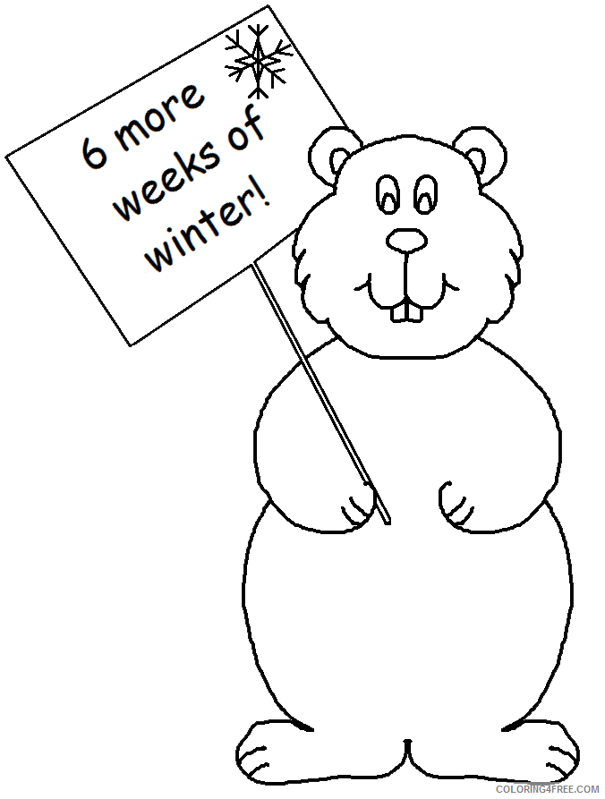 Groundhog Coloring Pages graphics by ruth groundhog s Printable Coloring4free
