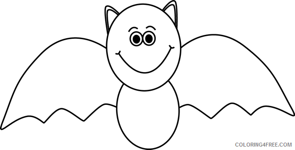 Halloween Bats Coloring Pages bat image black Printable Coloring4free