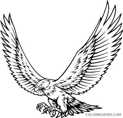 Hawk Coloring Pages Hawk Mascot Bfree Printable Coloring4free Coloring4free Com