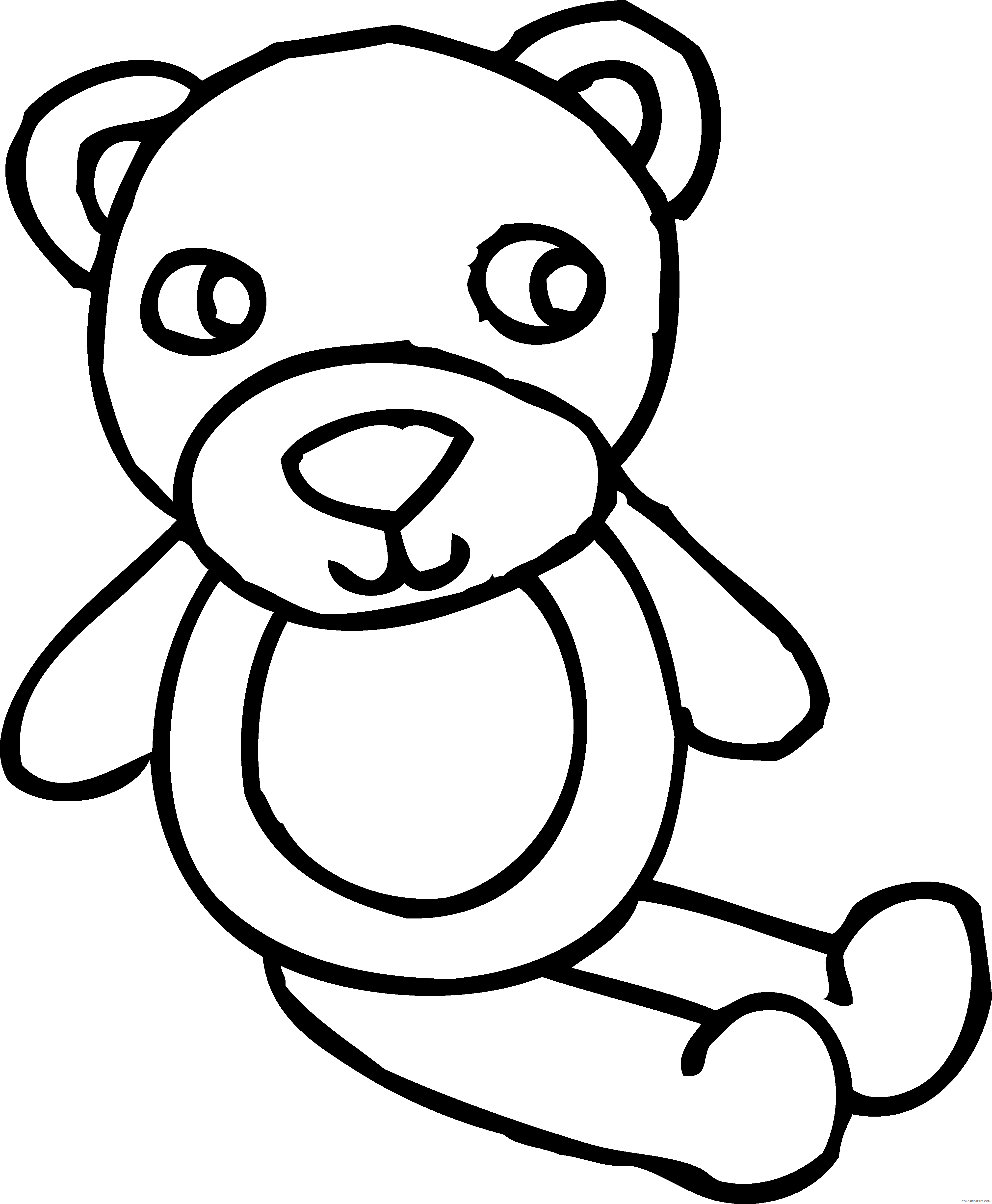 High Quality Bear Coloring Pages Outline of a bear ocoloringpages Printable Coloring4free