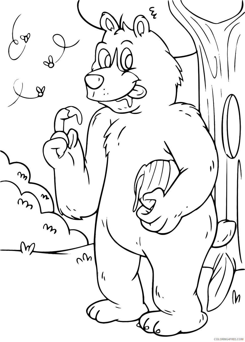 High Quality Bear Coloring Pages bear 3 bpng Printable Coloring4free