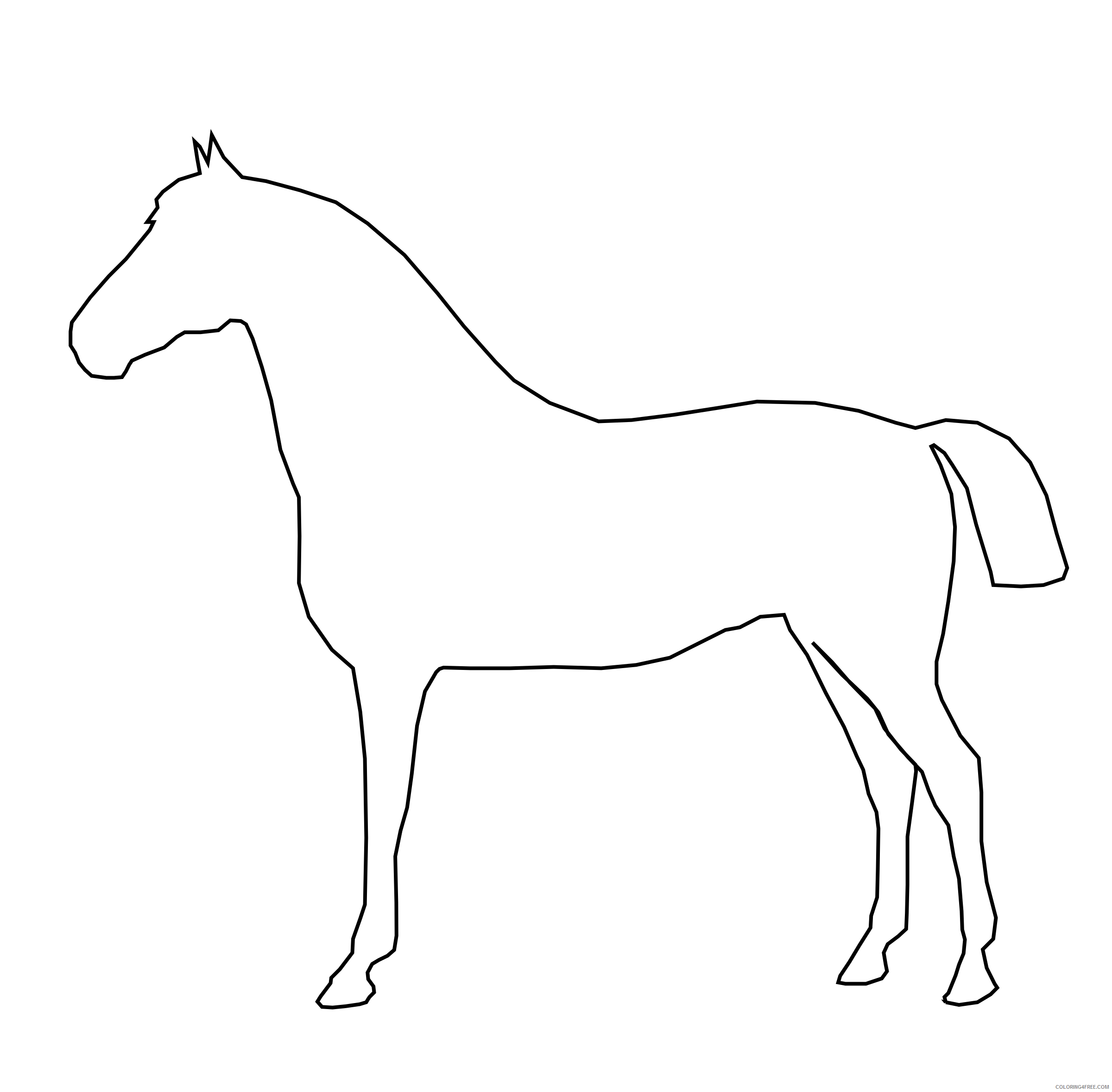 Horse Coloring Pages horse 2 3 Printable Coloring4free