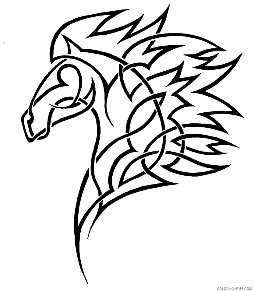 Horse Head Coloring Pages 29 horse head pages Printable Coloring4free