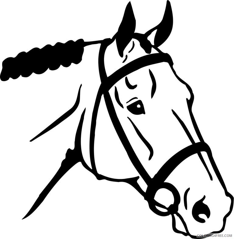Horse Head Coloring Pages horse head 1 jpg Printable Coloring4free