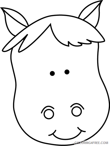 Horse Head Coloring Pages horse head Printable Coloring4free