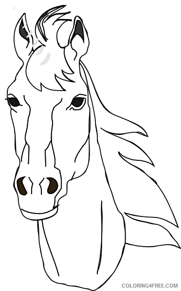 Horse Head Coloring Pages horse head at Printable Coloring4free