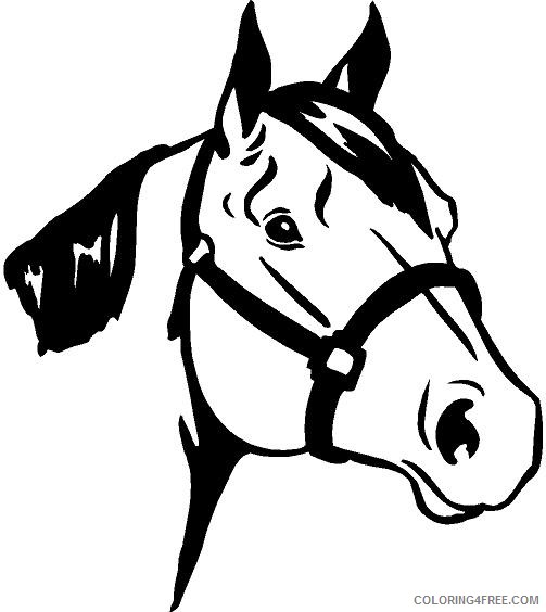 Horse Head Coloring Pages quarter horse head clip art Printable Coloring4free