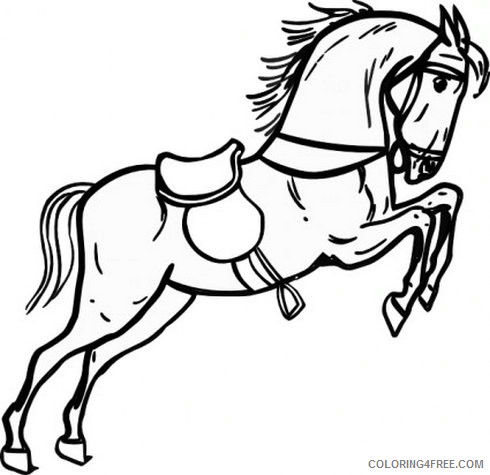 Horse Medium Coloring Pages Horse free vector Printable Coloring4free