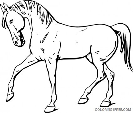 Horse Medium Coloring Pages horse 8 jpg Printable Coloring4free