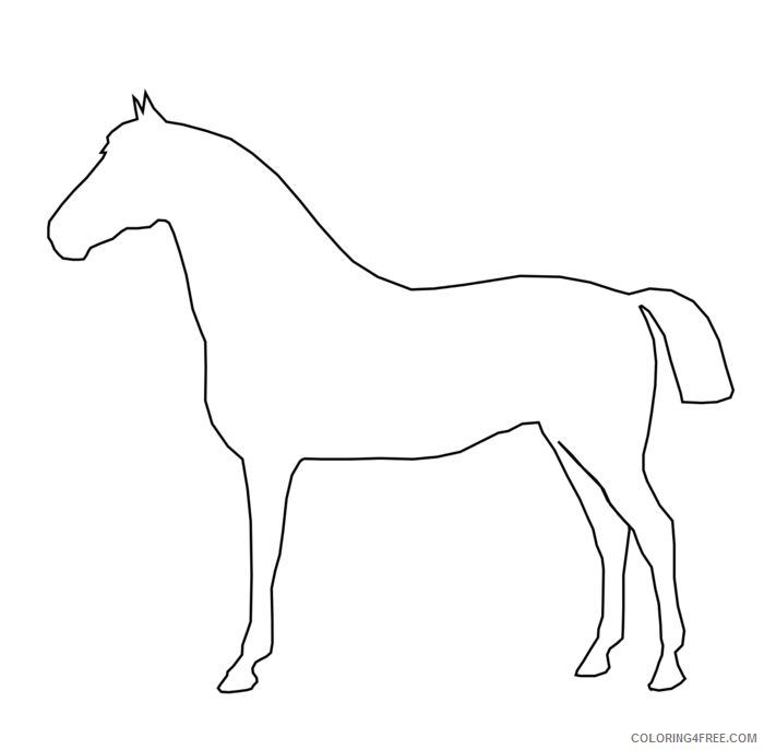 Horse Outline Coloring Pages by gingercoons a very simple Printable Coloring4free