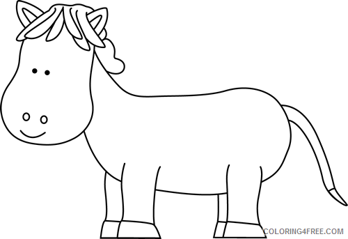 Horse Outline Coloring Pages horse Printable Coloring4free