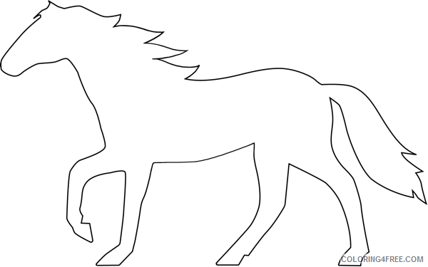 Horse Outline Coloring Pages horse outline best AJ4vfn Printable Coloring4free