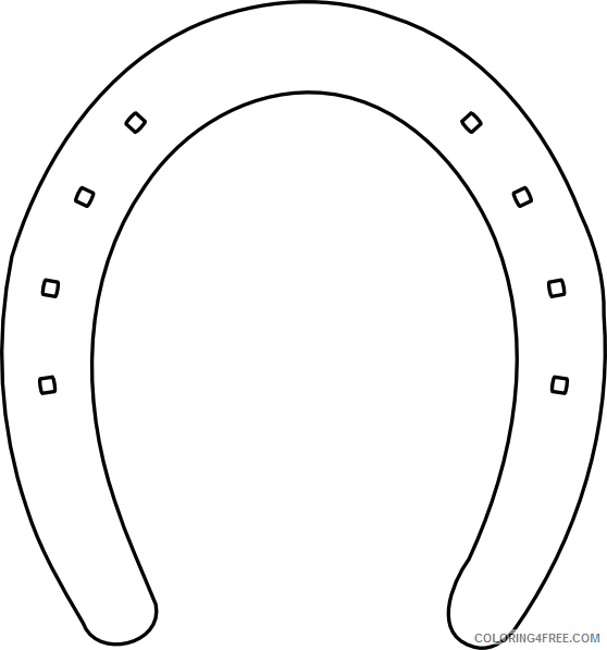Horseshoe Outline Coloring Pages horseshoe Printable Coloring4free