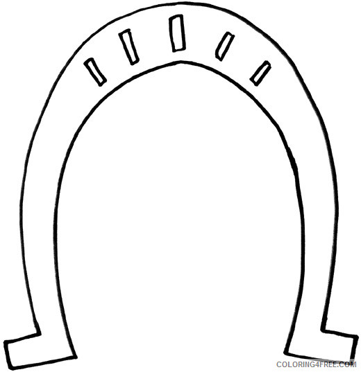 Horseshoe Outline Coloring Pages horseshoes eT0bDq jpg Printable Coloring4free
