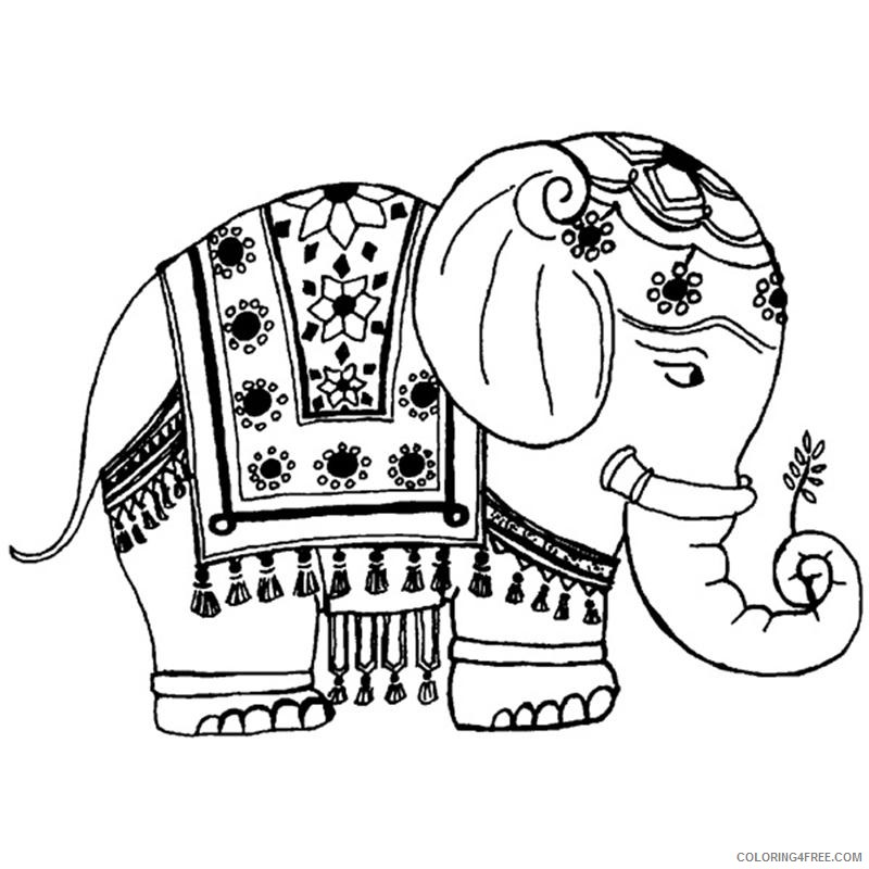 Indian Elephant Coloring Pages indian elephant skh jpg Printable Coloring4free