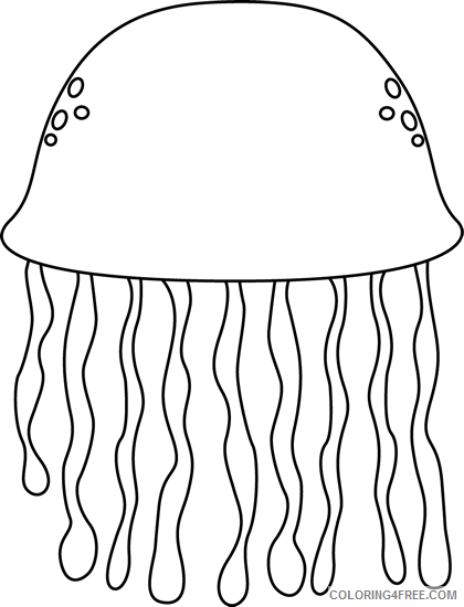 Jellyfish Coloring Pages jellyfish image black Printable Coloring4free