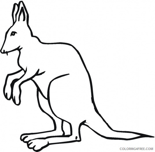 Kangaroo Outline Coloring Pages kangaroo outline best cliparts Printable Coloring4free
